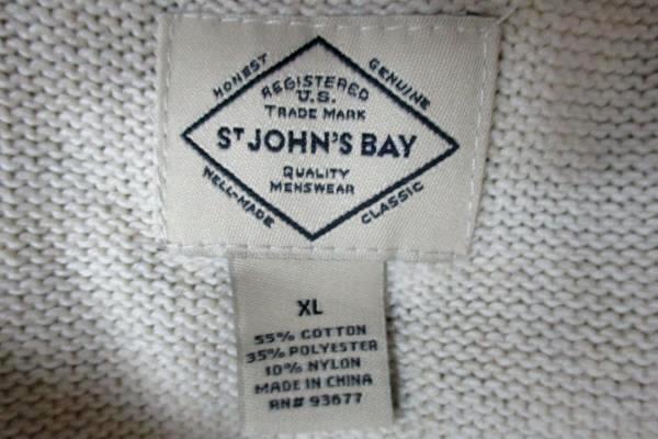 St. John's Bay Men's 1/4 Zip Collar Thick Winter Sweater Size XL