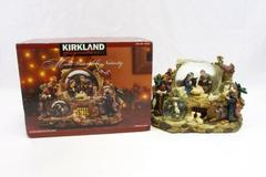Kirkland Signature Multi Snow Water Globe Nativity Scene #460457 w/ Box