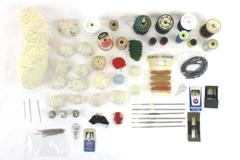 Vintage Lot of Sewing Needles Stick Pins Thimbles Thread Hooks Threader