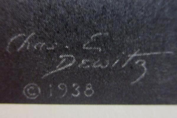 "Vintage Abraham Lincoln Proclamation Art Print 1938 Chas E. Dewitz 14"" x 11"""