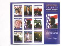 GRENADA SALUTES RONALD REAGAN 1996 COLLECTABLE STAMPS - MINT CONDITION $1