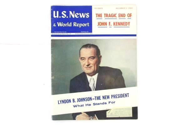 Vintage U.S. News & World Report December 1963 The Tragic End Of John F. Kennedy