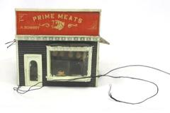 HO Scale Old Fashioned Prime Meats Shop Store Vintage Train RR Neat Wired