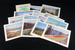 RARE VTG 1948 VIEWS OF THE SHASTA ROUTE FOLIO SET OF 16 KODACHROME LITHO PRINTS