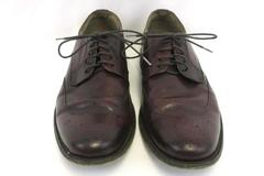Banana Republic Men' s Leather Dress Shoes Wing Tip Burgundy Size 9.5M