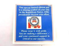 Vintage Red, White, Blue Republican National Committee Pin 1996