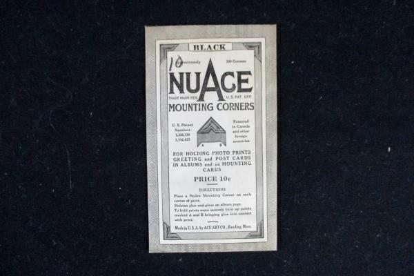 Vintage Baby Album Empty Detailed Cover Tie w/ NuAce Mounting Corners