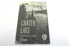 Vintage 1956 Crater Lake National Park Oregon Brochure Booklet - 16 Pages