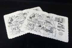 Vintage Ray Hotel and Coffee Shop Lot of 2 Paper Placemats North Dakota's Finest