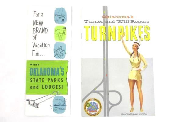 Vintage Lot of 2 Oklahoma Brochure Booklet Pamphlet Tourist Vacation State Parks