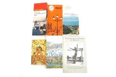 Vintage Lot of 6 Europe UK Tour Guide Map Travel Pamphlet Booklet