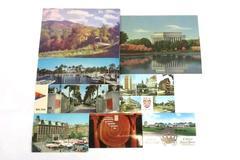 Lot of 8 Vintage Post Cards Unused Erfurt Stockholm Pub Redwoods Yacht Memorial