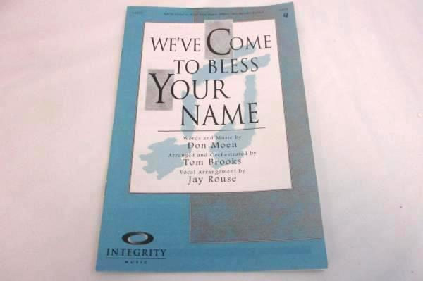 Lot of 66 Choral Sheet Music Booklets We've Come to Bless Your Name SATB #14627