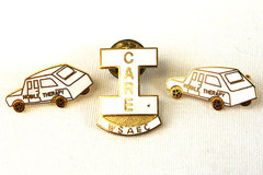 Lot Of Three White Enamel Pins Mobile Therapy And I Care