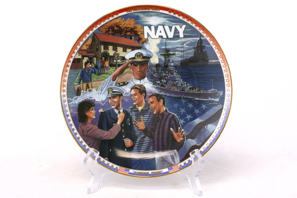 Cliff Hayes U.S. NAVY Coming Home PLATE New RETIRED