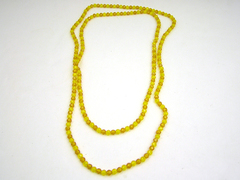 "30"" Strand of  1/4"" Yellow And Gold Plastic Beads"