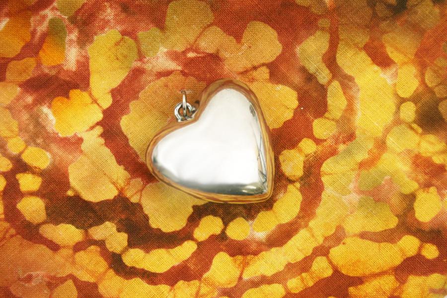 Silver Tone Heart Shaped Pendant