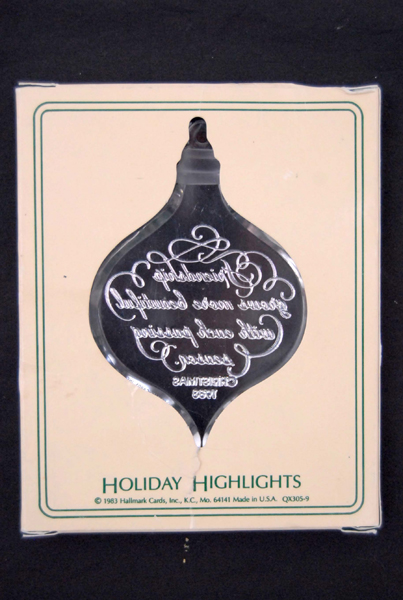 HALLMARK KEEPSAKE 1983 Friendship Ornament