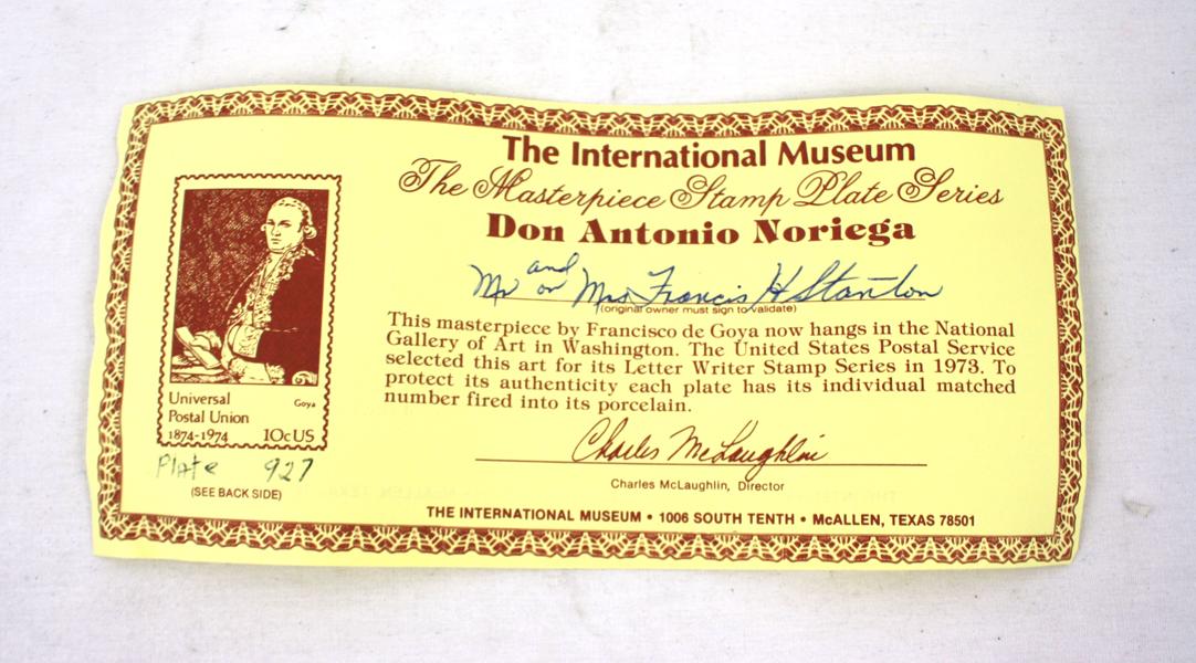 International Museum Masterpiece Stamp Plate Collection Michelangelo