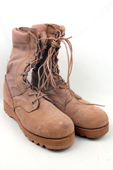 Tan Lace Up Military Reinforced Toe Desert Boots  Size 5