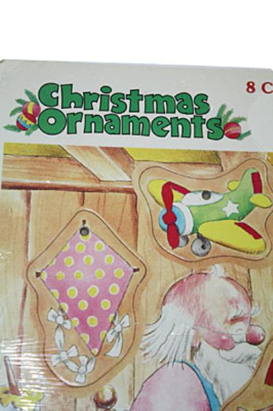 1980 Rainbow Works 8 Holiday Double Sided Decorations Puzzle 75700-4
