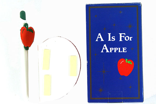 A Is For Apple Notepad With Pen by Papel Freelance