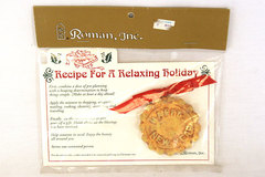 Recipe For A Relaxing Holiday 1997 Round Cookie Ornament by Roman Inc