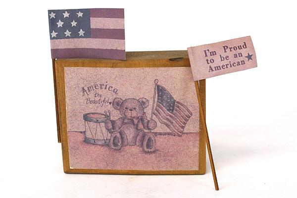 Sarah's Attic America The Beautiful Display Block #1 Proud To Be An American