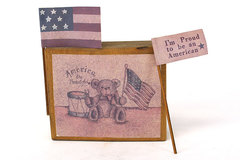 Sarah's Attic America The Beautiful Display Block #1 Proud To Be An American