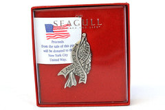 Seagull Pewter Nova Scotia Patriotic Land Of The Free Not Forgotten Hat Pin
