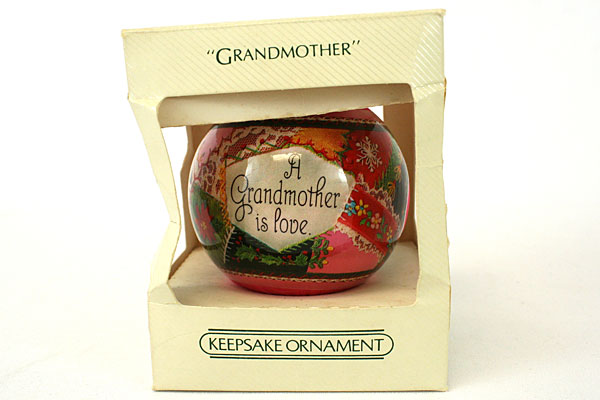 Hallmark Keepsake Satin Ornament 1982 Grandmother