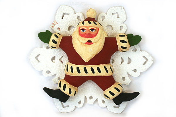 Department 56 Christmas Tree Ornament Noah Santa On Snowflake - New with Tags