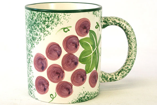Papel VINEYARDS By Cranbury Square Hand Painted Mug