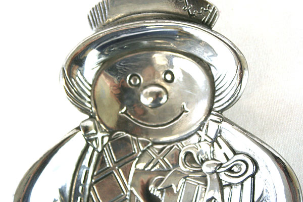 May Department Stores Silver Tone Snowman Candy Dish