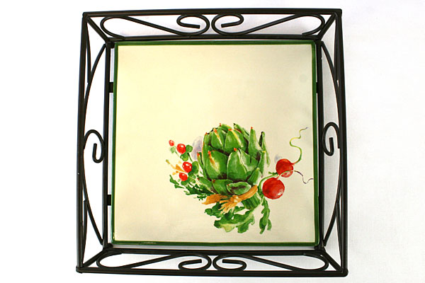 Enesco Randy Ouzts Decorative Frame With Ceramic Tray Bottom