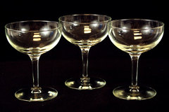 Lot of Three Champagne Glasses