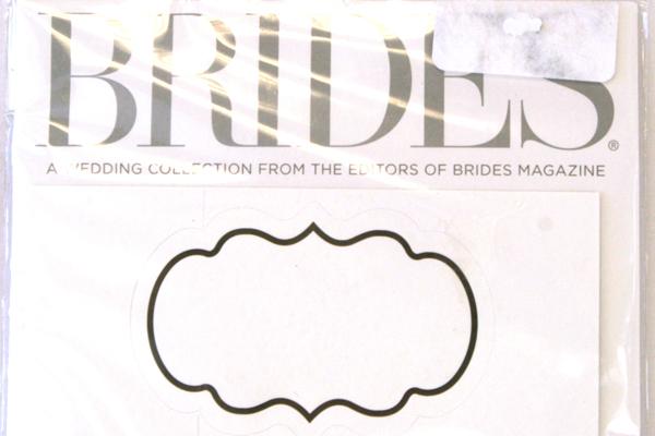 BRIDES Printable Black and White Bottle Wraps 12-ct