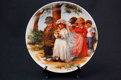 Here Comes The Bride Kids Married Wedding Knowles Collector Plate Jeanne Down
