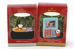 1998 Rocket to Success and 1999 Counting on Success Hallmark Keepsake Ornaments