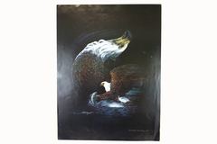 "25.5"" Signed Jim Sargent Eagle Art Proof Poster"