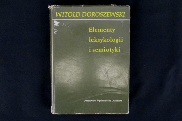 1970 Elements of Lexicology and Semiotics by Witold Doroszewski Original Polish