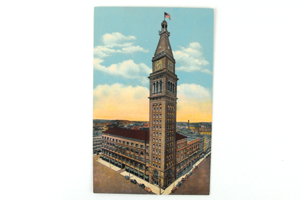 Vintage Daniels And Fisher Tower Postcard 130