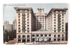 Vintage Hotel Utah Salt Lake City Postcard 7710
