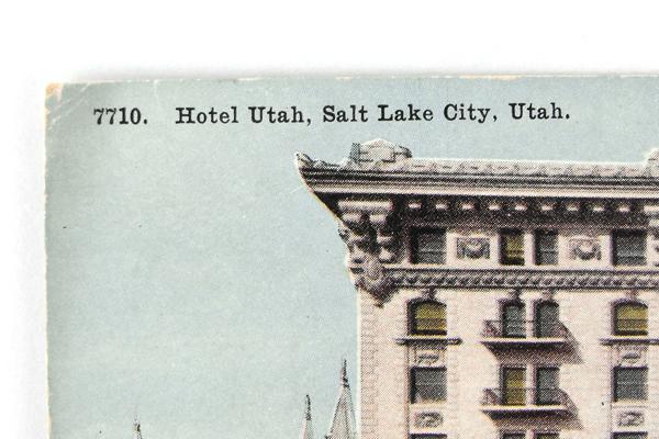 Vintage Hotel Utah Salt Lake City Postcard 7710