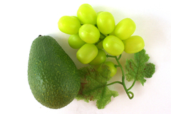 Plastic Artificial Grapes And Pear