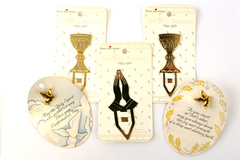 5 - Spiritual Brass Bookmarks and Commemorative Pins