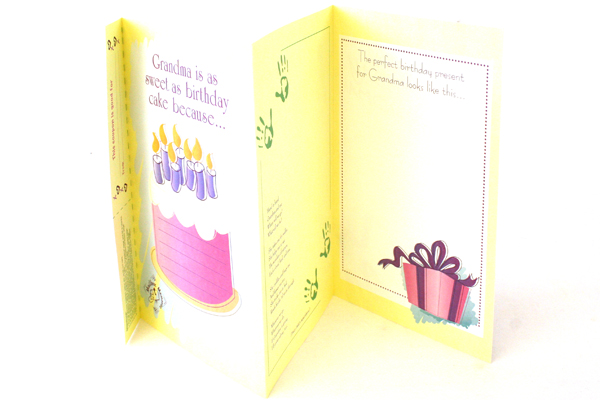 Set of 2 Happy Birthday Personalized Cards For Grandma & Grandpa with Envelopes