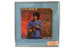 Framed Signed Album Cover Elvin Bishop BIG FUN w/ Rogue Theater Ticket 2002