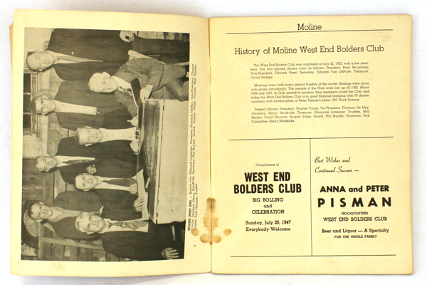 1947 Convention Program United Bolders Clubs of Western Illinois 25th Anniversry
