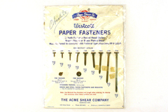 Acme Shear Co. Westcott Paper Fasteners And Washer Sampler Or Display Card
